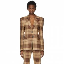 Kwaidan Editions Brown Plaid Blazer SS21WJ027W_CWC
