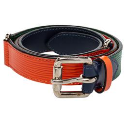 Louis Vuitton Tricolor Epi Leather Slim Belt 85CM 402282