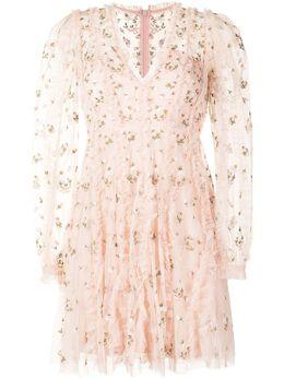 Needle & Thread платье Frieda с цветочной вышивкой DSLS61RSS21SWI