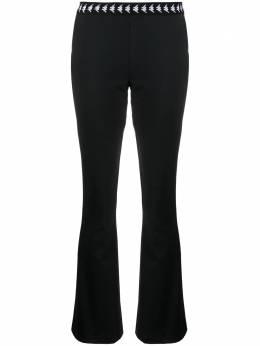 Kappa расклешенные брюки с логотипом на поясе 3117BHW
