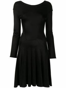 Alaïa Pre-Owned расклешенное платье с длинными рукавами WW13452ALADRS