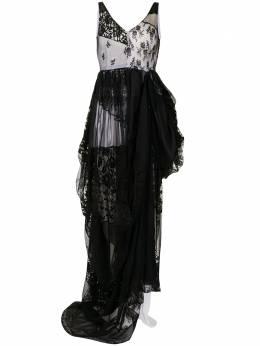 Dolce&Gabbana Pre-Owned платье с кружевными вставками и драпировкой WW13444DGDRS
