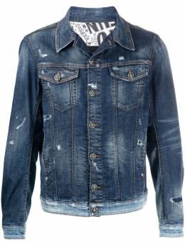 John Richmond джинсовая куртка с эффектом потертости RMP21144GB