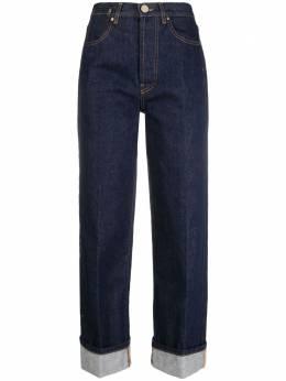 Erika Cavallini джинсы прямого кроя с подворотами P1SW03