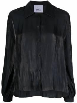 Erika Cavallini рубашка с жатым эффектом P1SS02