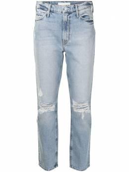 Mother прямые джинсы с прорезями 1276587