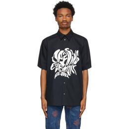 Opening Ceremony Black Melted Logo Short Sleeve Shirt YMGA006S21FAB0011101