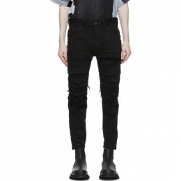 Julius Black Denim Distressed Stretch Jeans 737PAM26-BK