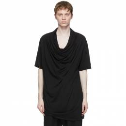 Julius Black Layered Neck T-Shirt 737CUM18