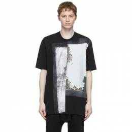 Julius Black Jersey Split T-Shirt 737CPM4