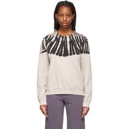 Raquel Allegra Off-White Tie-Dye Classic Sweatshirt Y211-4073TD