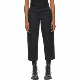 Proenza Schouler Black Proenza Schouler White Label Cotton Twill Belted Trousers WL2116062