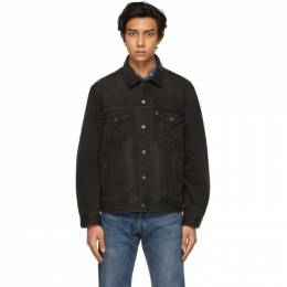 Levi's Black Denim Vintage Fit Trucker Jacket 77380-0013