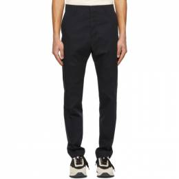 Ami Alexandre Mattiussi Navy Cigarette Fit Trousers E21HT004.288