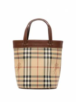 Burberry Pre-Owned сумка-ведро в клетку House Check 3C