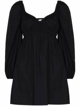 Reformation платье Vic с объемными рукавами 1307917BLK