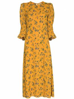 Reformation платье миди Carolena с цветочным принтом 1307960VLR