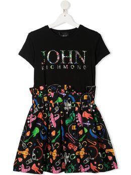 John Richmond Junior платье с эластичным поясом RGP21185VEG4