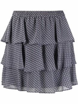 MICHAEL Michael Kors мини-юбка с оборками и цветочным принтом MKOMS1701D20K