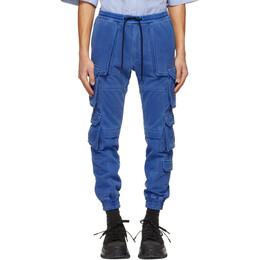 Juun.J Blue French Terry Multi-Pocket Jogger Cargo Pants JC1321P3GP