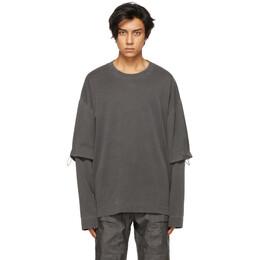 Juun.J Grey Double Sleeve Long Sleeve T-Shirt JC1441P013