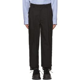 Juun.J Black Cotton Two-Pleat Long Trousers JC1321P7A5