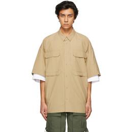 Juun.J Beige Layered Pocket Short Sleeve Shirt JC1465P41A