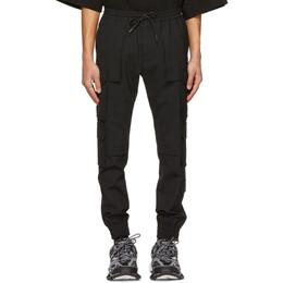 Juun.J Black Wool Multi-Pocket Jogger Cargo Pants JC1321P3F5