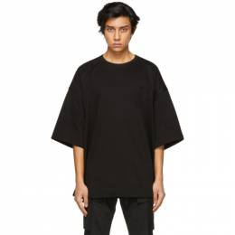 Juun.J Black Embroidered Logo T-Shirt JC1442P035