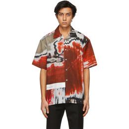 Dunhill Red Abrasion Lounge Short Sleeve Shirt DU21RGLP3FF