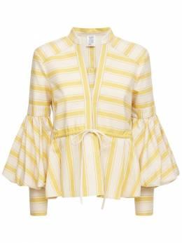 Рубашка Из Канвас С Принтом Rosie Assoulin 73IXY7003-Nzkw0