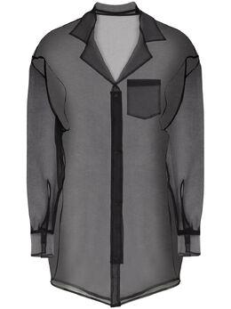 Sulvam прозрачная рубашка с длинными рукавами SNB11600