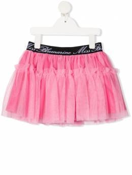 Miss Blumarine пышная юбка с логотипом на поясе MBL3967