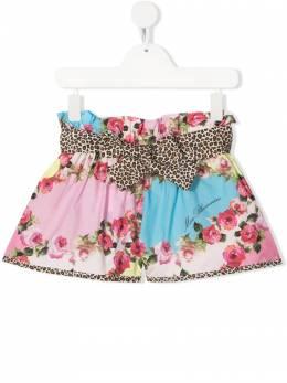 Miss Blumarine шорты с цветочным принтом и поясом MBL3795