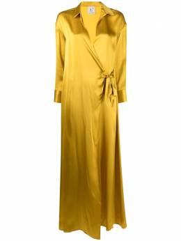 L'Autre Chose длинное платье с запахом B2511026004