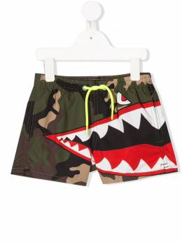 Mc2 Saint Barth Kids плавки-шорты Shark Camo HAITI