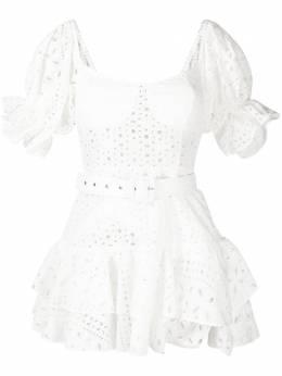 Charo Ruiz Ibiza платье мини с английской вышивкой 213602