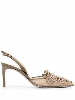 Rene Caovilla туфли с ремешком на пятке и кристаллами C10883PN01H341