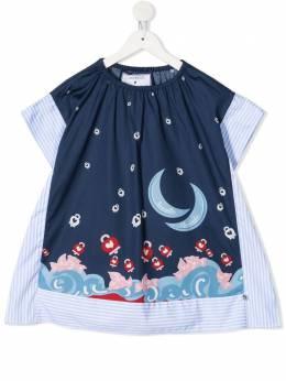 Simonetta поплиновое платье в полоску 1O1282OD80