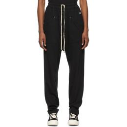 Rick Owens DRKSHDW Black Long Drawstring Lounge Pants DS21S2320 RN
