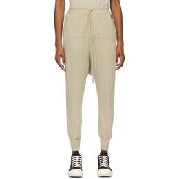 Rick Owens DRKSHDW Beige Drawstring Lounge Pants DS21S2330 RN