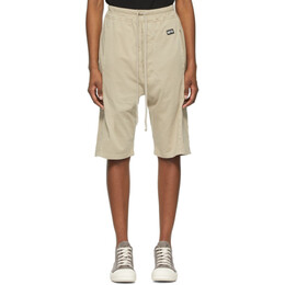 Rick Owens DRKSHDW Beige Pusher Shorts DS21S2333 RN