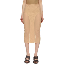 Dion Lee Beige Powertulle Paneled Skirt A1332S21