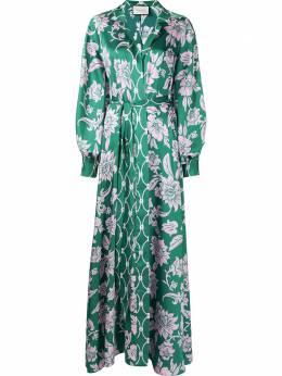 Alexis платье макси с запахом и цветочным принтом A12104207039