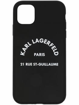 Karl Lagerfeld чехол для iPhone 11 с логотипом KL20LGBK090