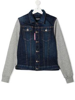 Dsquared2 Kids джинсовая куртка со вставкой DQ0098D005C