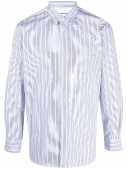 Comme Des Garcons Shirt рубашка в тонкую полоску с контрастной вставкой FZB129