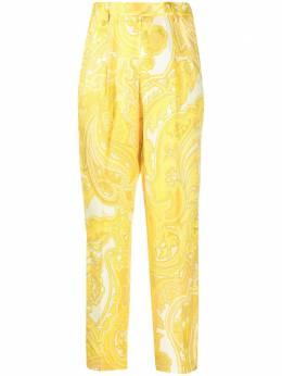 Etro брюки строгого кроя с принтом пейсли 141114411