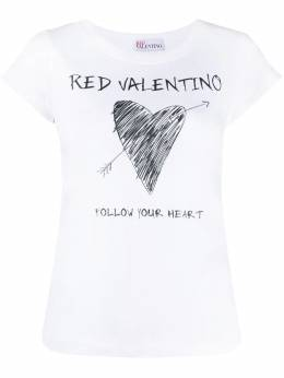 Red Valentino футболка Follow Your Heart VR0MG10A5VK