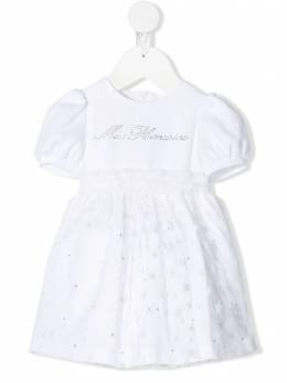 Miss Blumarine платье с логотипом MBL3295BIANCO